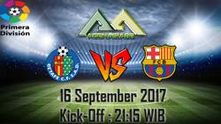 Prediksi Getafe Vs Barcelona 16 September 2017